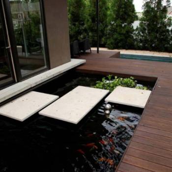7 desain kolam ikan koi minimalis, sederhana dan indah